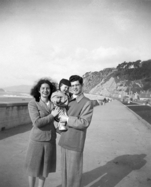 Marilyn, Avram, & Clarence at Ocean Beach